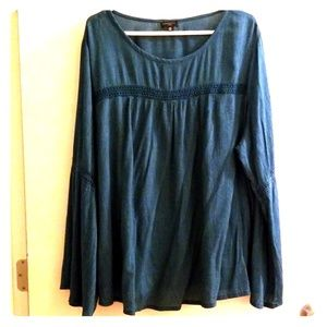 Women's 3X Hannah Long Sleeve Blouse